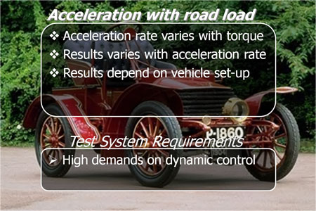 Acceleration with road load