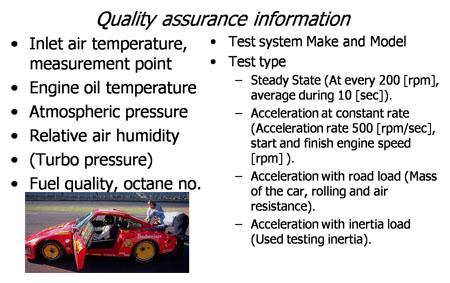 Quality assurance information